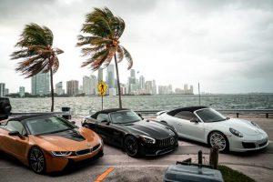 BMW I8 Roadster 2019 Золотой аренда в Майами