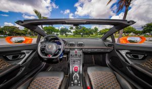 Lamborghini huracan Spyder Красный 2018 аренда в Майами